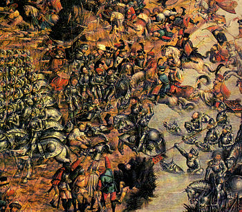 Polish Knights, detail from the painting of the Battle of Orsha by Hans Krell, 2014