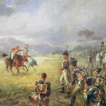 The duel, fair play by Robert Alexander Hillingford (1828-1904) (private collection).  On this painting a French carabinier is duelling with an English cavalrist, it seems like one of the French infantry soldiers wants to point his musket at the enemy, but his officer seems to interfere in this action.