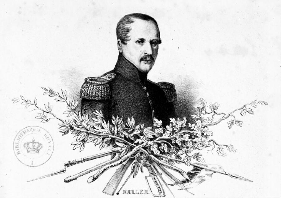 Image of Alexandre Muller, from Maniement de la baïonette (1835) p. 3 Source: https://docs.google.com/file/d/0ByGICcee2dhNZ0dXNXdMcHdjM0E/edit (retrieved 4-05-2015)