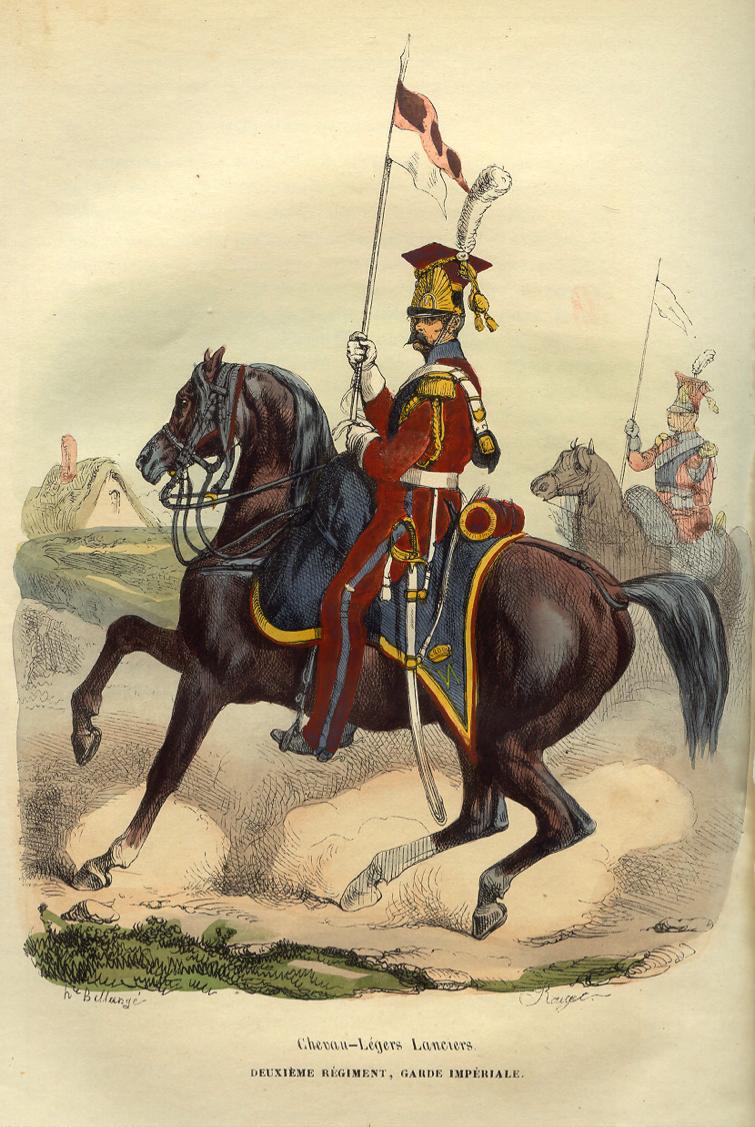 Red lancer Source: http://dariocaballeros.blogspot.be/2013/08/antoine-fortune-de-brack-cavalry-saddle.html (retrieved 15-04-2015)