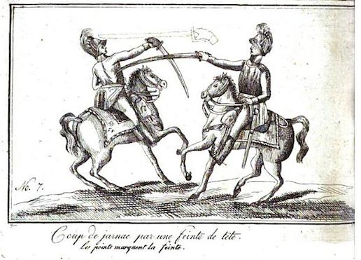 de Saint Martin: L 'art de faire des armes réduit à ses vrais principes, L'art de l'espadon (1804),plate 7.
