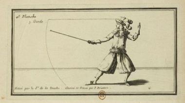 Philibert de la Touche, Les vrays principes de l'épée (1667), plate 4.