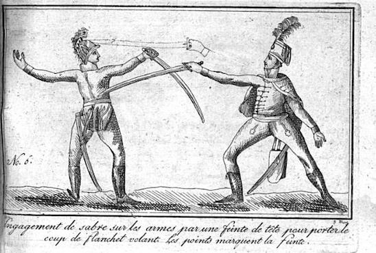 de Saint Martin: L 'art de faire des armes réduit à ses vrais principes, L'art de l'espadon (1804), plate 6.