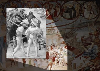 Martyrdom of St. Claire (1524), fresco, Lorenzo Lotto - highlighted