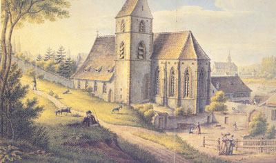 The church of St. Alban in 1857