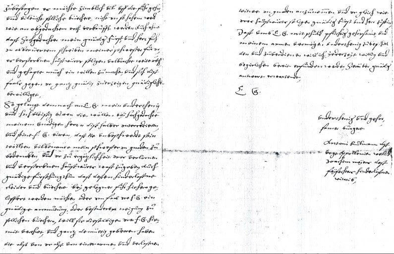 Letter from Anton Ruelman, the brother of Joachim Meyer's widow Appolonia, to the Duke of Mecklenburg regarding the effects of Joachim