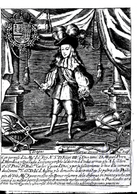 Engraving from Miguel Pérez de Mendoza's «Resumen de la Verdadera Destreza de las Armas», 1675.