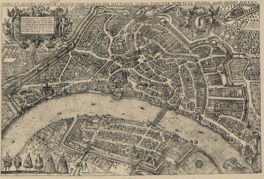 Basel in 1615, by Matthüs Merian d.Ä.