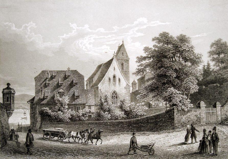 St Albankirche in 1840