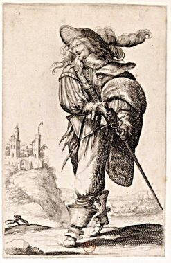 Jeune homme tirant son épée