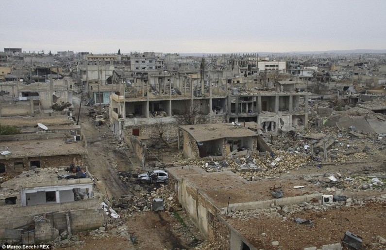Kobane in Syria where Aylan lived for three years with his family after having fled the IS from Damascus. This is after the attack of the IS of September 2014.