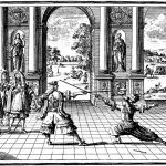 King Louis XIV, watching fencing 2nd half of the 1600s.