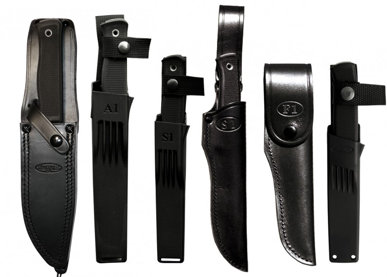 Sheath options for the three knives