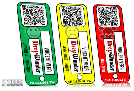 Example image of personal rating tags for CHALLENGE.3W