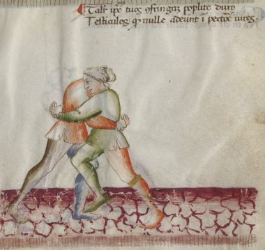 Verse and illustration from Florius 41v