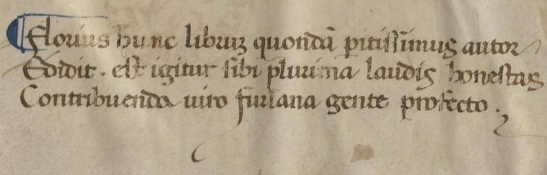 The final verse of Florius de Arte Luctandi