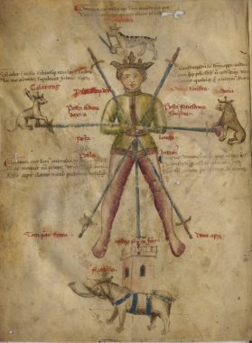 "The ""Seven Swords"" or segno page from Florius de Arte Luctandi"