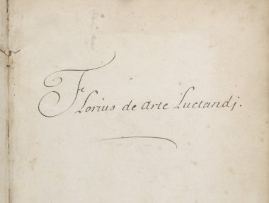 Florius title on flyleaf