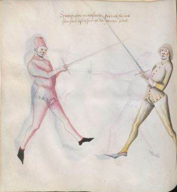 Sprechfenster in Paulus Kal's fencing treatise of ca 1470 (Cgm.1507)