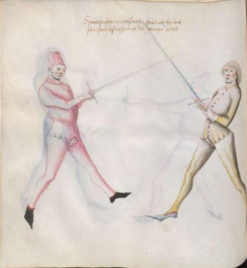 Sprechfenster in Paulus Kal's fencing treatise of ca 1470 (Cgm.1507)